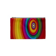 Circle Rainbow Color Hole Rasta Cosmetic Bag (small)  by Mariart