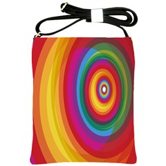 Circle Rainbow Color Hole Rasta Shoulder Sling Bags by Mariart