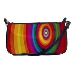 Circle Rainbow Color Hole Rasta Shoulder Clutch Bags by Mariart