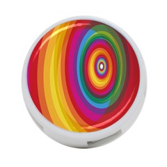Circle Rainbow Color Hole Rasta 4 Port Usb Hub (two Sides)  by Mariart