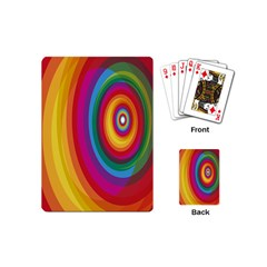Circle Rainbow Color Hole Rasta Playing Cards (mini)  by Mariart