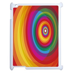 Circle Rainbow Color Hole Rasta Apple Ipad 2 Case (white) by Mariart