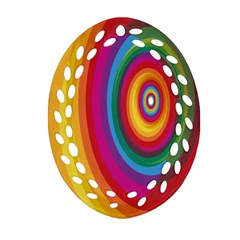 Circle Rainbow Color Hole Rasta Oval Filigree Ornament (two Sides) by Mariart