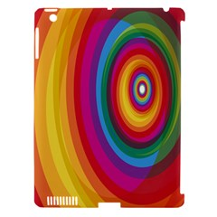 Circle Rainbow Color Hole Rasta Apple Ipad 3/4 Hardshell Case (compatible With Smart Cover)