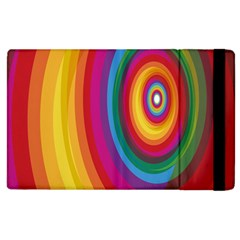 Circle Rainbow Color Hole Rasta Apple Ipad 3/4 Flip Case by Mariart