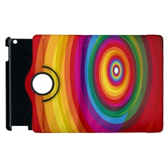 Circle Rainbow Color Hole Rasta Apple Ipad 2 Flip 360 Case by Mariart