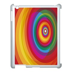 Circle Rainbow Color Hole Rasta Apple Ipad 3/4 Case (white) by Mariart