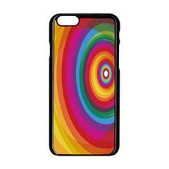 Circle Rainbow Color Hole Rasta Apple Iphone 6/6s Black Enamel Case by Mariart