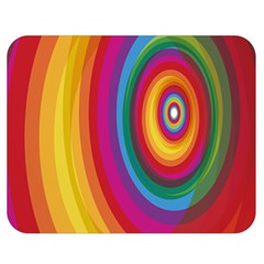 Circle Rainbow Color Hole Rasta Double Sided Flano Blanket (medium)  by Mariart