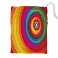 Circle Rainbow Color Hole Rasta Drawstring Pouches (xxl)