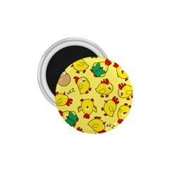 Animals Yellow Chicken Chicks Worm Green 1 75  Magnets by Mariart