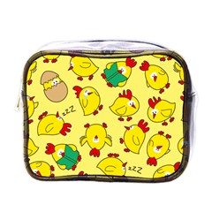 Animals Yellow Chicken Chicks Worm Green Mini Toiletries Bags by Mariart