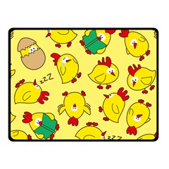Animals Yellow Chicken Chicks Worm Green Fleece Blanket (small) by Mariart
