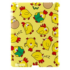Animals Yellow Chicken Chicks Worm Green Apple Ipad 3/4 Hardshell Case (compatible With Smart Cover) by Mariart