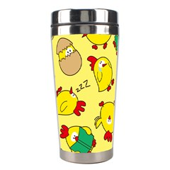 Animals Yellow Chicken Chicks Worm Green Stainless Steel Travel Tumblers by Mariart