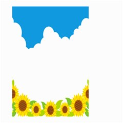 Cloud Blue Sky Sunflower Yellow Green White Small Garden Flag (two Sides) by Mariart