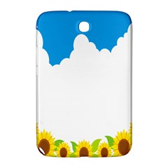Cloud Blue Sky Sunflower Yellow Green White Samsung Galaxy Note 8 0 N5100 Hardshell Case  by Mariart