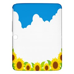 Cloud Blue Sky Sunflower Yellow Green White Samsung Galaxy Tab 3 (10 1 ) P5200 Hardshell Case  by Mariart