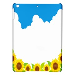 Cloud Blue Sky Sunflower Yellow Green White Ipad Air Hardshell Cases by Mariart