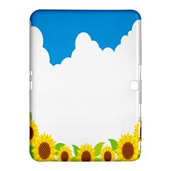 Cloud Blue Sky Sunflower Yellow Green White Samsung Galaxy Tab 4 (10 1 ) Hardshell Case  by Mariart