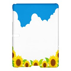 Cloud Blue Sky Sunflower Yellow Green White Samsung Galaxy Tab S (10 5 ) Hardshell Case  by Mariart