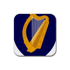 Coat Of Arms Of Ireland Rubber Square Coaster (4 Pack)  by abbeyz71