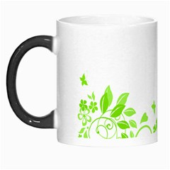Butterfly Green Flower Floral Leaf Animals Morph Mugs by Mariart