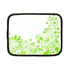 Butterfly Green Flower Floral Leaf Animals Netbook Case (small)  by Mariart