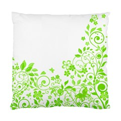 Butterfly Green Flower Floral Leaf Animals Standard Cushion Case (two Sides) by Mariart
