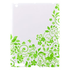 Butterfly Green Flower Floral Leaf Animals Apple Ipad 3/4 Hardshell Case by Mariart