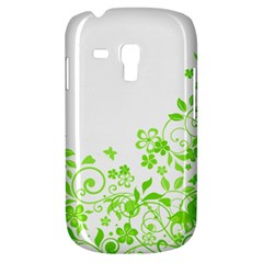Butterfly Green Flower Floral Leaf Animals Galaxy S3 Mini by Mariart