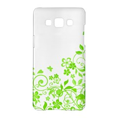 Butterfly Green Flower Floral Leaf Animals Samsung Galaxy A5 Hardshell Case  by Mariart