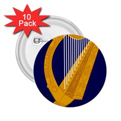 Coat Of Arms Of Ireland 2 25  Buttons (10 Pack)  by abbeyz71