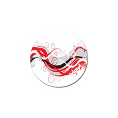 Flower Floral Star Red Wave Golf Ball Marker (10 Pack) by Mariart