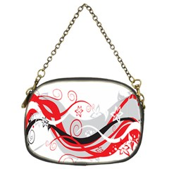 Flower Floral Star Red Wave Chain Purses (two Sides)  by Mariart