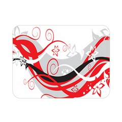 Flower Floral Star Red Wave Double Sided Flano Blanket (mini)  by Mariart