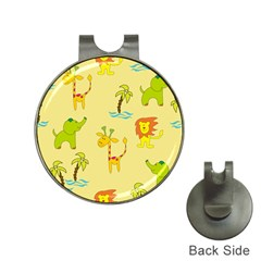 Cute Animals Elephant Giraffe Lion Hat Clips With Golf Markers by Mariart