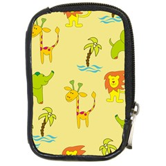 Cute Animals Elephant Giraffe Lion Compact Camera Cases by Mariart