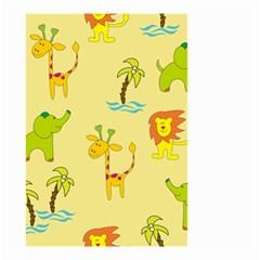 Cute Animals Elephant Giraffe Lion Small Garden Flag (two Sides) by Mariart