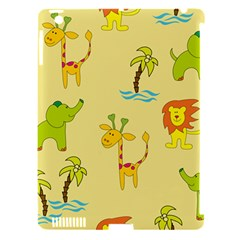 Cute Animals Elephant Giraffe Lion Apple Ipad 3/4 Hardshell Case (compatible With Smart Cover) by Mariart