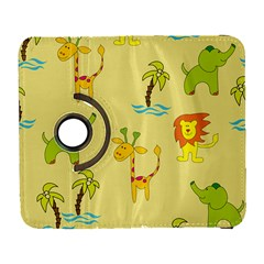 Cute Animals Elephant Giraffe Lion Galaxy S3 (flip/folio) by Mariart