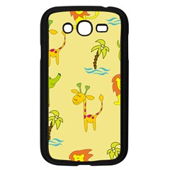 Cute Animals Elephant Giraffe Lion Samsung Galaxy Grand Duos I9082 Case (black) by Mariart