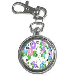 Flower Floral Star Purple Pink Blue Leaf Key Chain Watches by Mariart