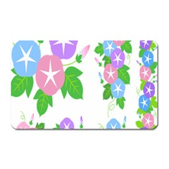 Flower Floral Star Purple Pink Blue Leaf Magnet (rectangular) by Mariart