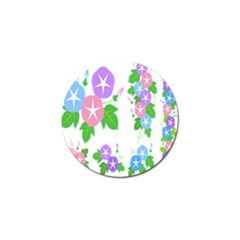 Flower Floral Star Purple Pink Blue Leaf Golf Ball Marker by Mariart