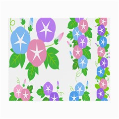 Flower Floral Star Purple Pink Blue Leaf Small Glasses Cloth by Mariart