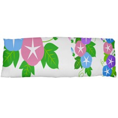 Flower Floral Star Purple Pink Blue Leaf Body Pillow Case Dakimakura (two Sides) by Mariart