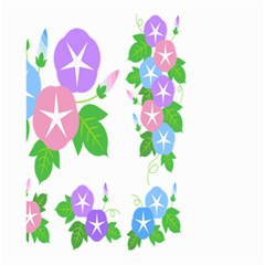 Flower Floral Star Purple Pink Blue Leaf Small Garden Flag (two Sides) by Mariart