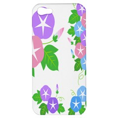 Flower Floral Star Purple Pink Blue Leaf Apple Iphone 5 Hardshell Case by Mariart