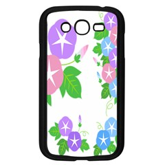 Flower Floral Star Purple Pink Blue Leaf Samsung Galaxy Grand Duos I9082 Case (black) by Mariart